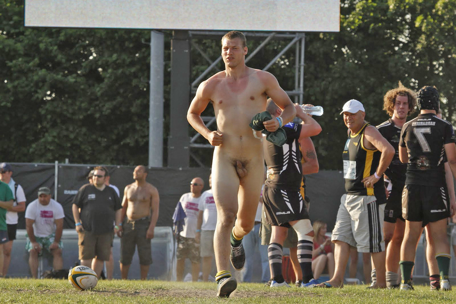 Beefy straight guy with farmer\'s tan streaking on the rugby field | Public  Porn XXX | Hot XXX Gays