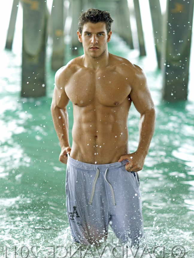 Billy Kiraly in the waves photographed by David Vance | Pants  Porn XXX | Hot XXX Gays