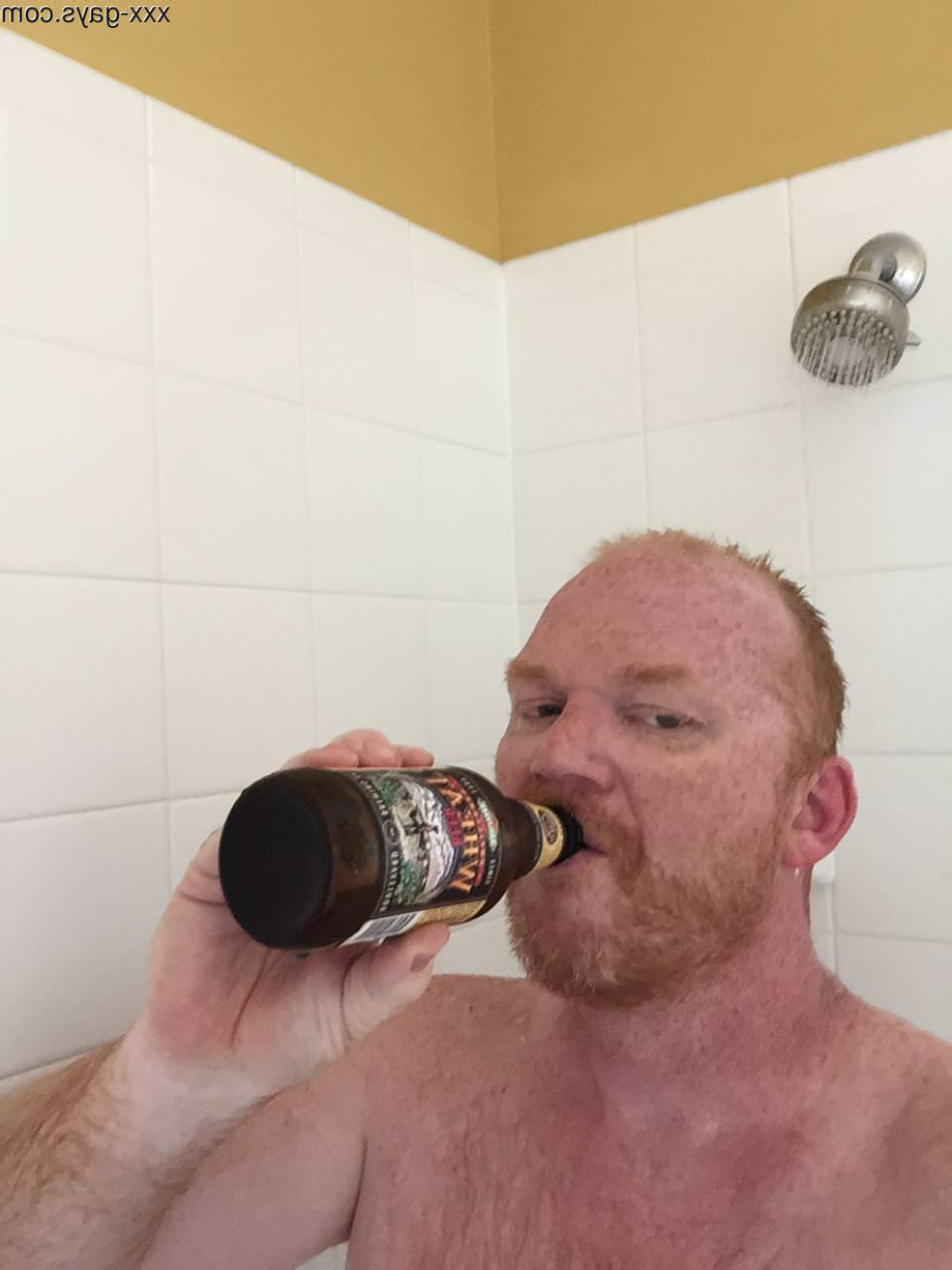 Enjoying a Wheat showerbeer after a long day of yard work.   Gingers  Porn XXX   Hot XXX Gays