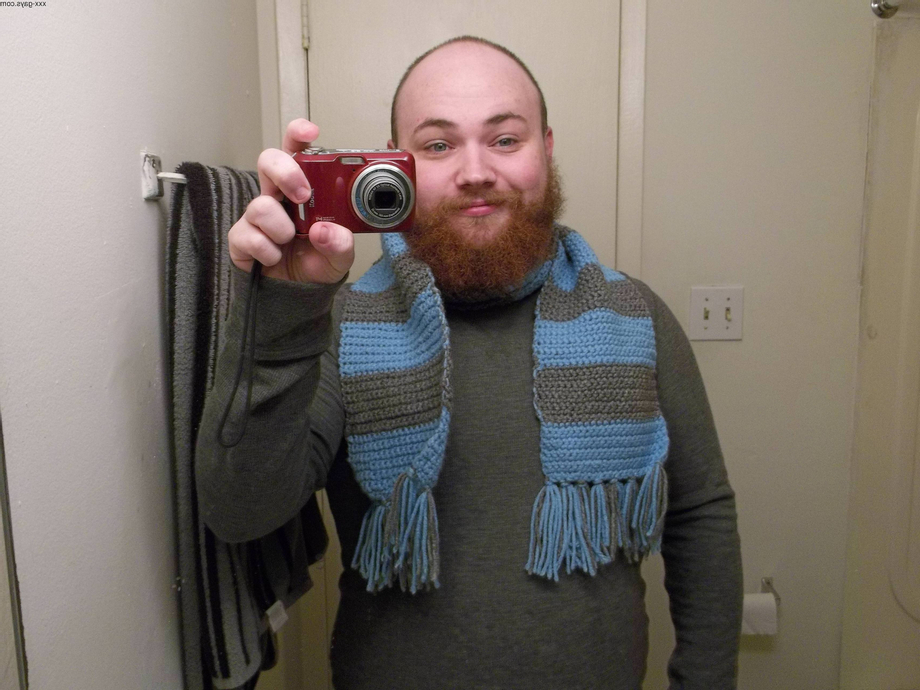 First time posting on this sub. Figured I\'d show off my 8.5 month-old beard and the scarf my Boyfriend made for me   Beards  Porn XXX   Hot XXX Gays