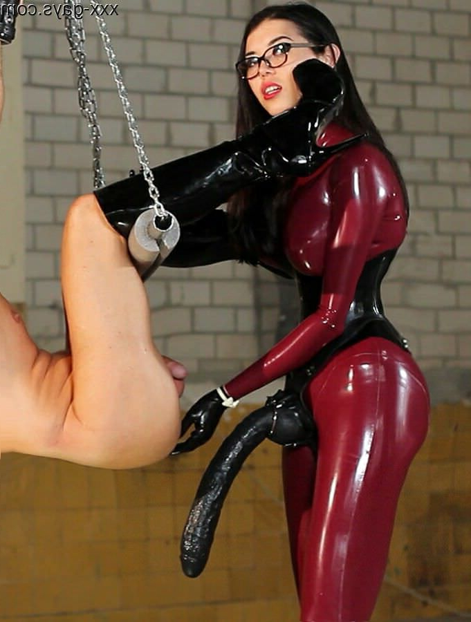 Latex, a corset, and a strapon   Pegging  Porn XXX   Hot XXX Gays