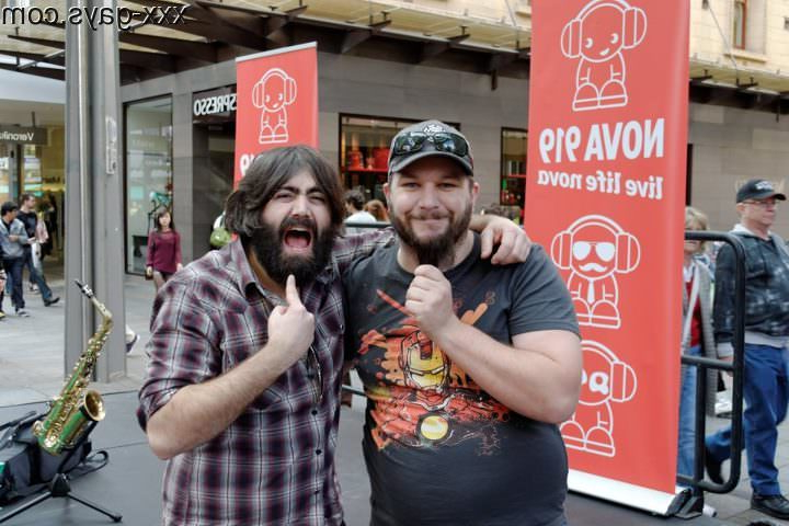 Me and my beard with Johann Beardraven from the band \