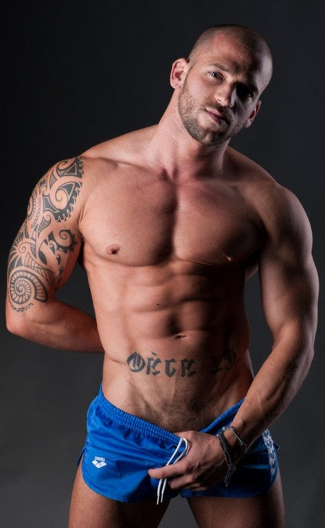 Model Nuno Branco tugging at the front of his shorts   Pants  Porn XXX   Hot XXX Gays