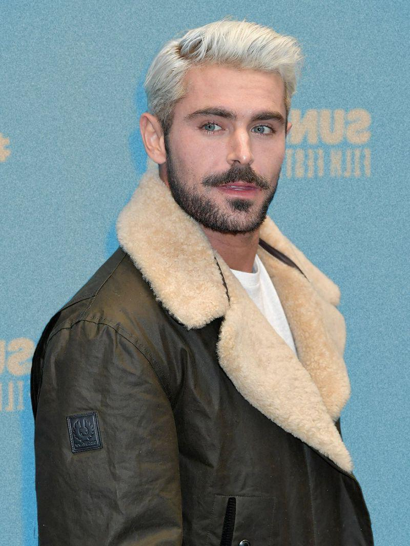 Never thought I'd be crushing on a man with bleached platinum blonde hair, but... it's Zac Efron, so here we are | Hot Boys  Porn XXX | Hot XXX Gays