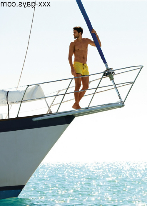 Noah Mills on a boat photographed by Dean Isidro for \'Calzedonia\'   Pants  Porn XXX   Hot XXX Gays
