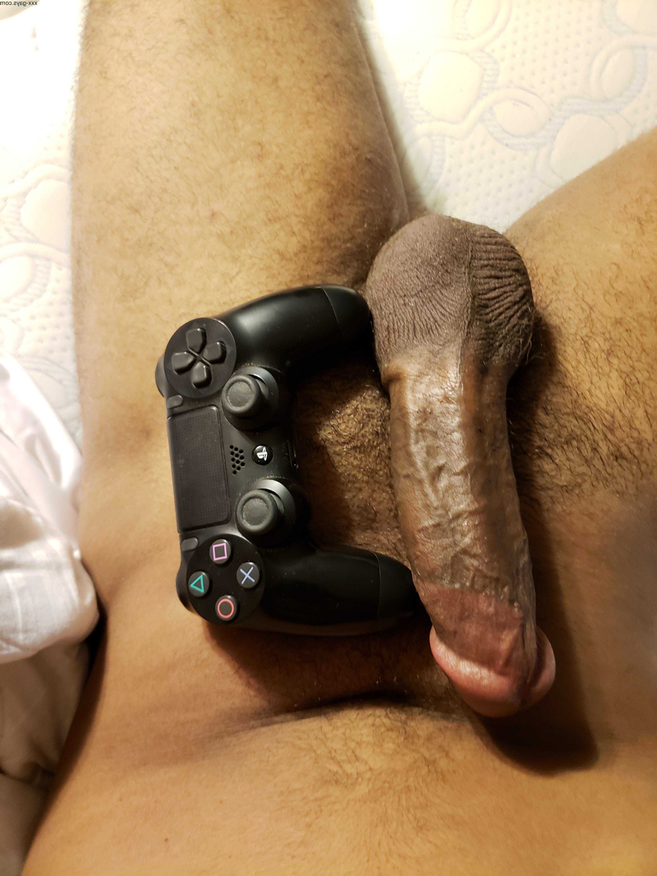 Semi-hard with controller for scale! ???? | Bisexual  Porn XXX | Hot XXX Gays